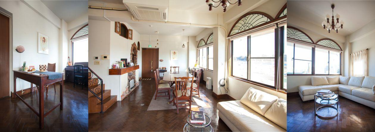 【千駄ヶ谷・国立競技場前・北参道】重厚でクラシカルな内装のキッチンスペース。 の写真