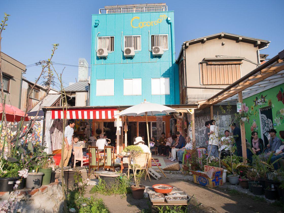 大阪市 アートな空間の中にある庭で様々な催し物に最適です。BBQにも!(ゲストハウスとカフェと庭 ココルーム) の写真0