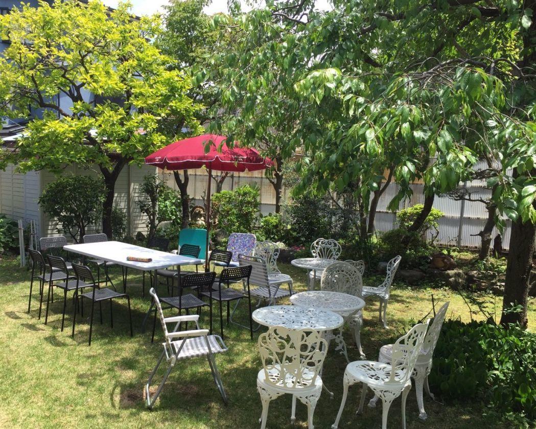 一軒家の広々とした庭でバーベキューやイベントに(OPでキッチン使用可) の写真