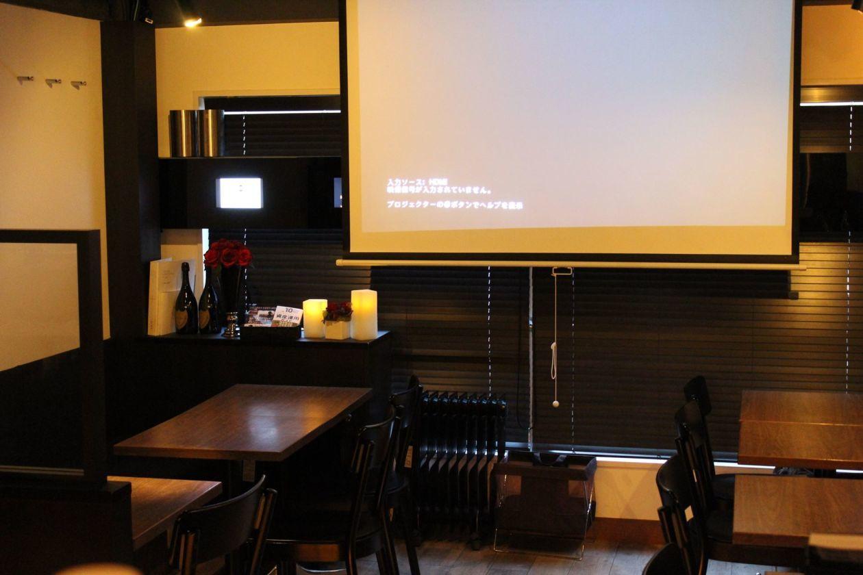 【銀座 3分】都内一等地 BARの空き時間をレンタル プロジェクタ・スクリーン・Wi-Fi完備で会議、セミナー、イベントに最適 の写真