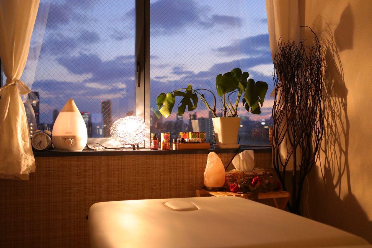 大阪城を眺望〜デザイナーズビル最上階、都会の中の癒しシェアスペース!*(Organic Eco chic house 〜share community salon ) の写真0