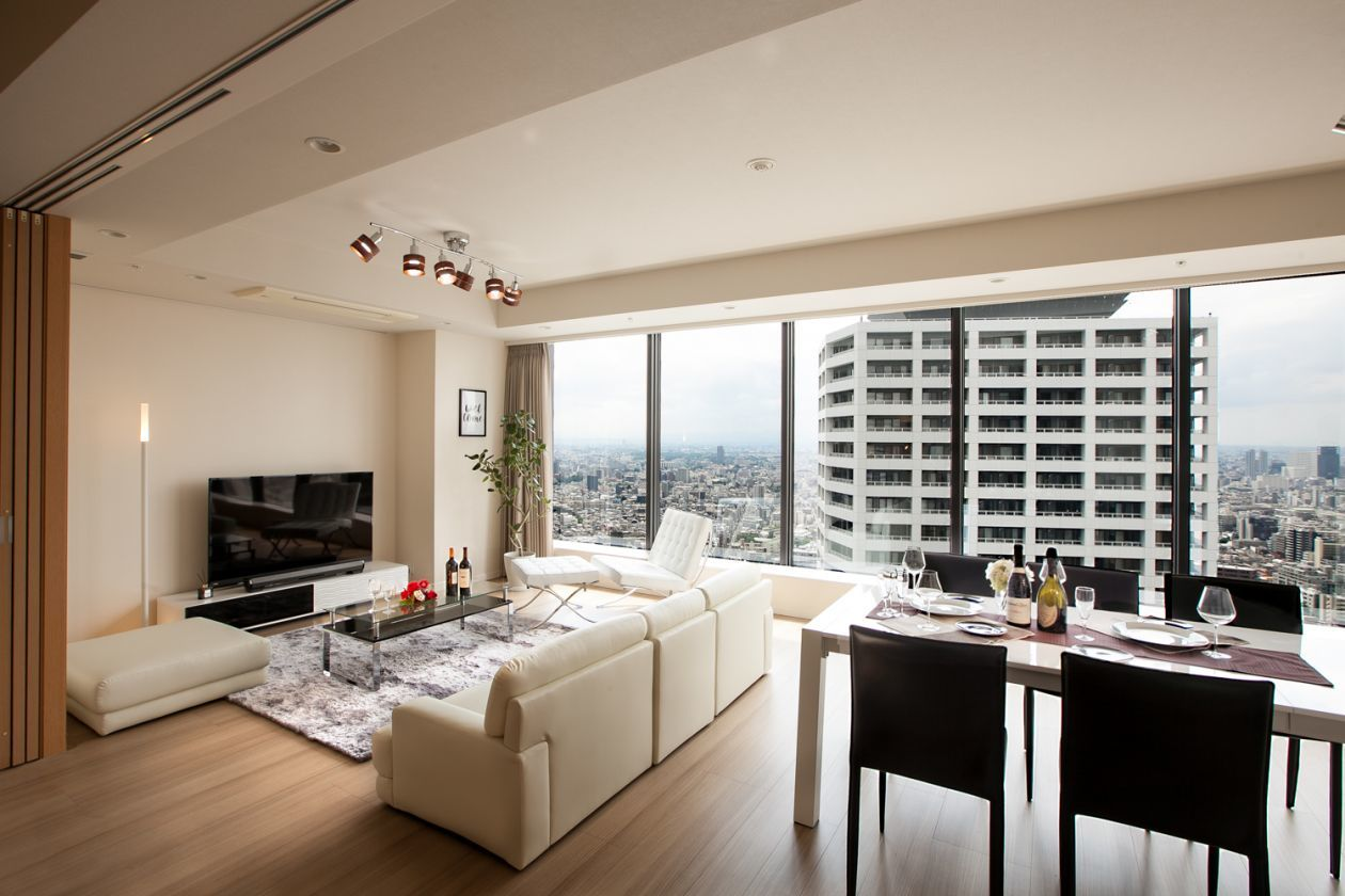 高級タワーマンションで非日常的なセレブイベント・セミナー・撮影・ロケ・スタジオ・ロケ・パーティ < キッチン有 >(新宿の高級高層マンションでパーティー・イベント・撮影・ロケ・セミナー) の写真0