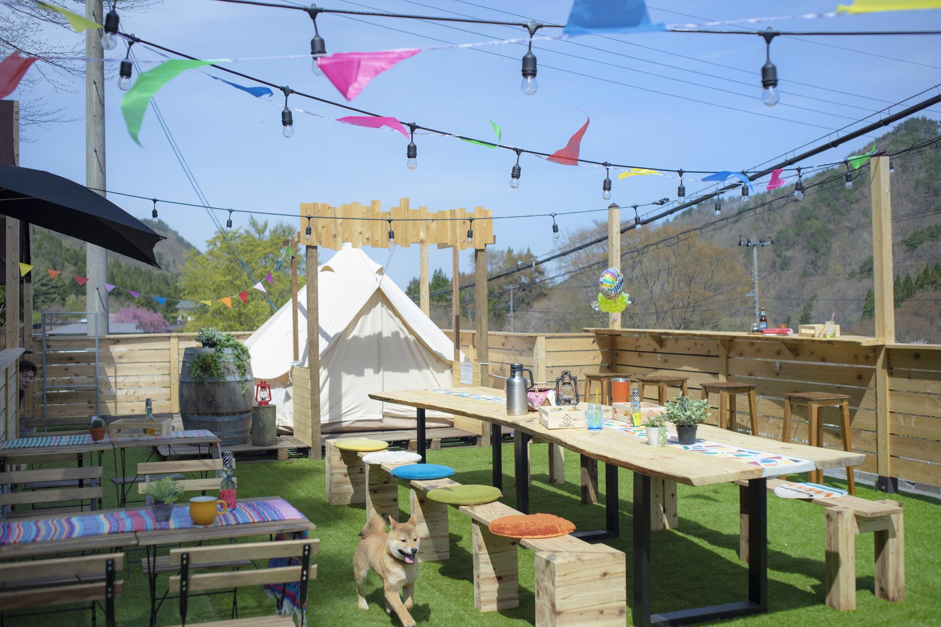 山に囲まれたDIYカフェを自由に利用!(山に囲まれたDIYカフェを自由に利用!) の写真0