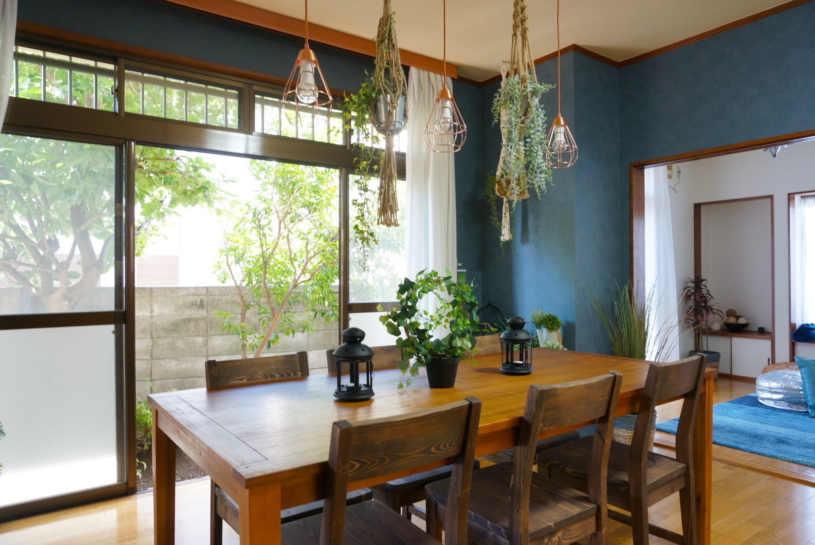 fika桜上水〜夏みかんハウス〜上品なブルーに囲まれたリビング・ボタニカルな雰囲気がフォトジェニック♪(SNS投稿・動画撮影可)(fika桜上水) の写真0